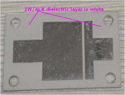 2 w m/k dielectric layer is white