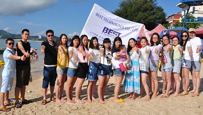 Group photos on the beach