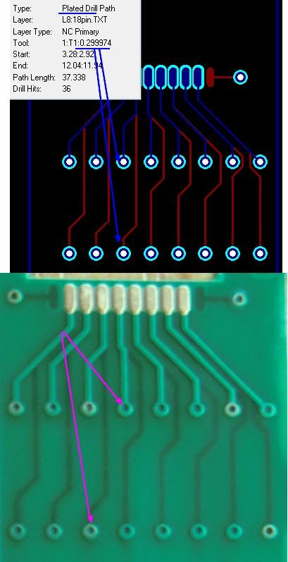 0.3mm Via soldermask