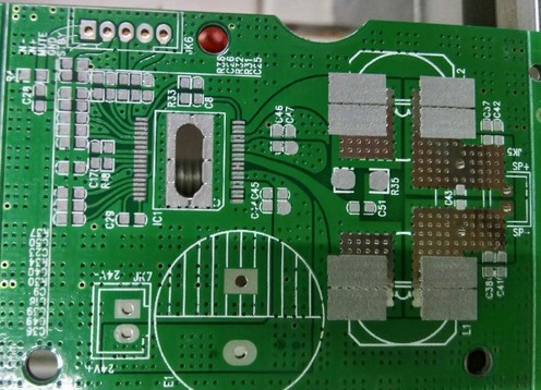PCB with solder paste