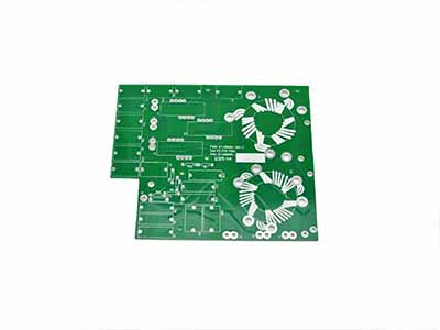 PCB with green solder mask