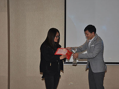 Celin won the champion of sales
