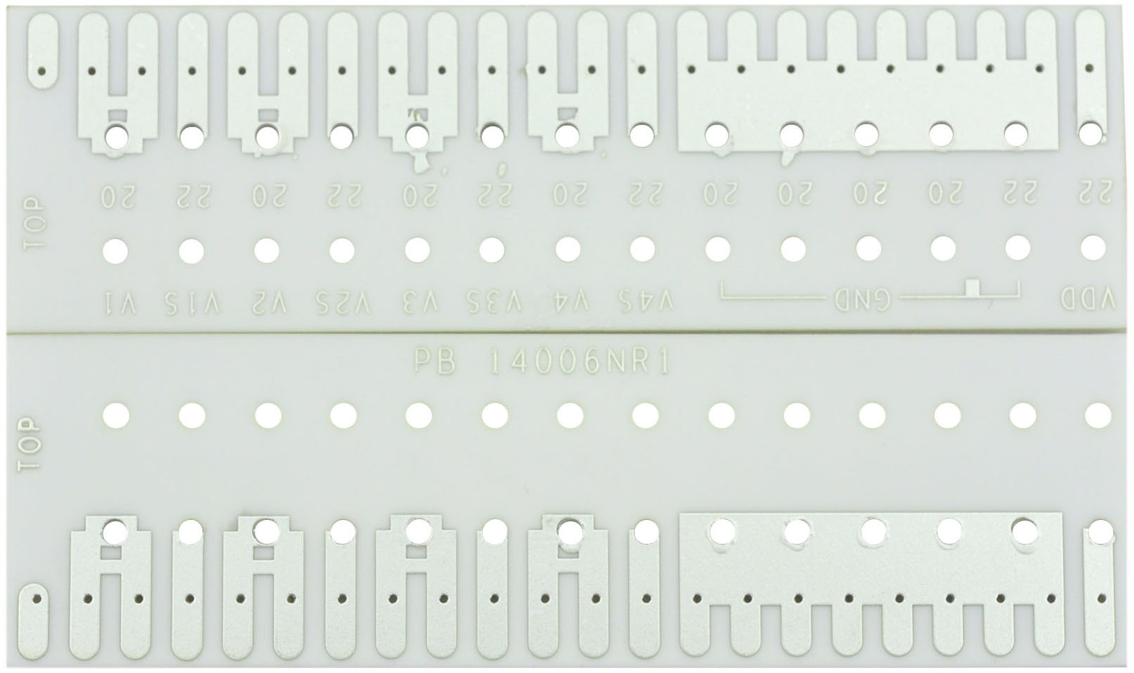 photos of thick film ceramic pcb with 10 um silver palladium and 1 00 mm 96  al2o3  alumina