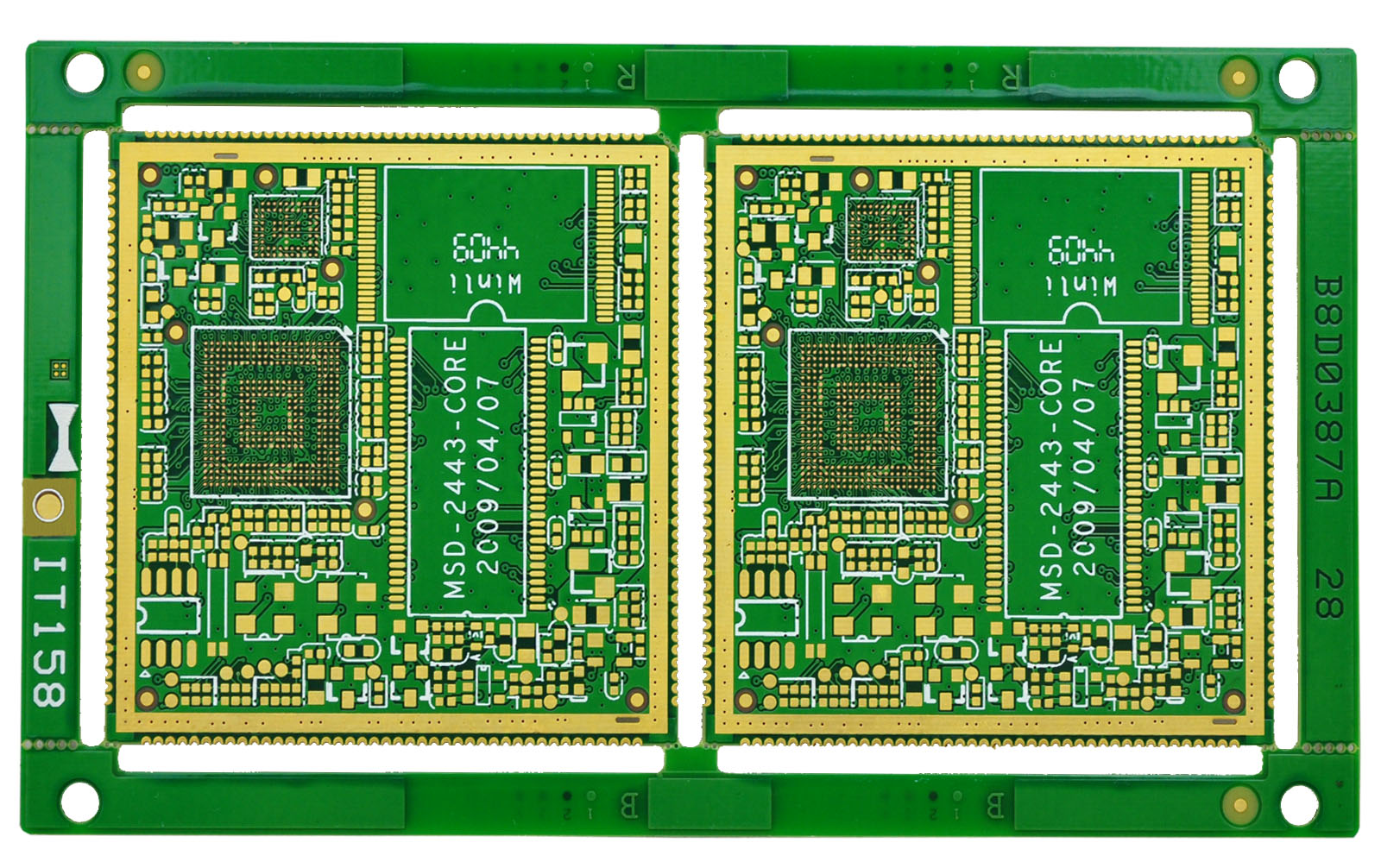 Half Hole Plated Pcb Hdi Bpm13308 Photo By Layers Multilayer Printed Circuit Board China Multi Layer Fr4